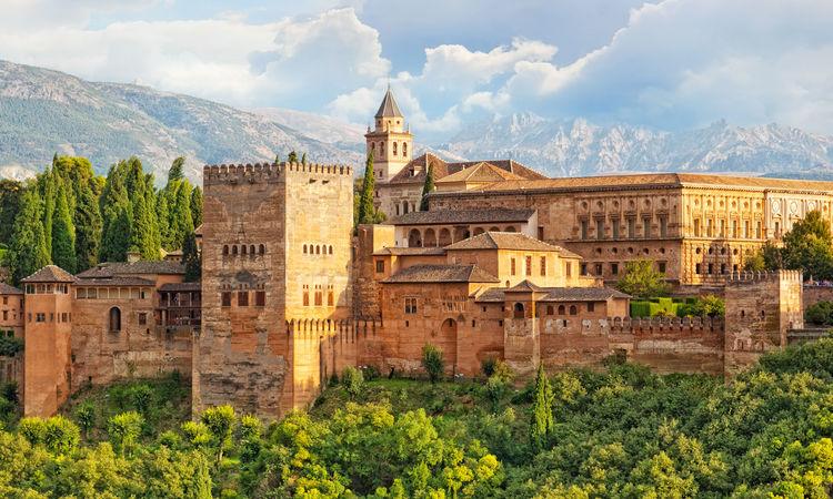 Arabic fortress of Alhambra, Granada, Spain