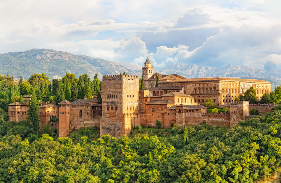 Arabic fortress of Alhambra in Granada, Spain