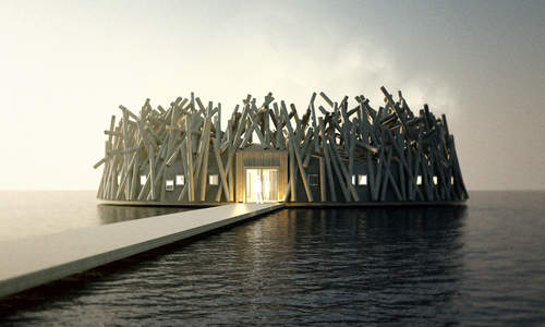 Coming soon: Arctic Bath, a floating spa in Swedish Lapland