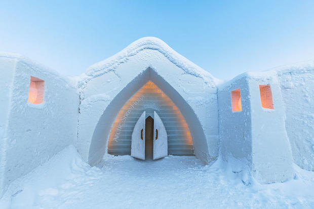 The Arctic SnowHotel & Glass Igloos (ice hotel) in Finnish Lapland