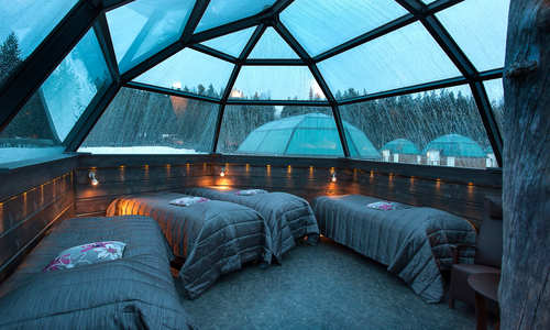 Family-sized igloo interior