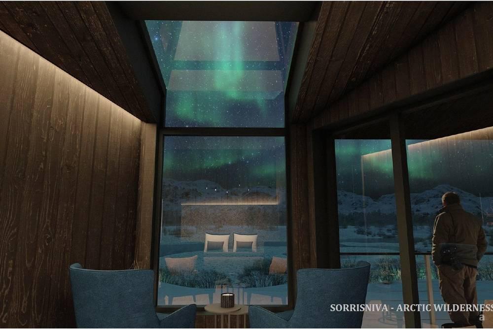 River Room, Arctic Wilderness Lodge, Sorrisniva (rendering)