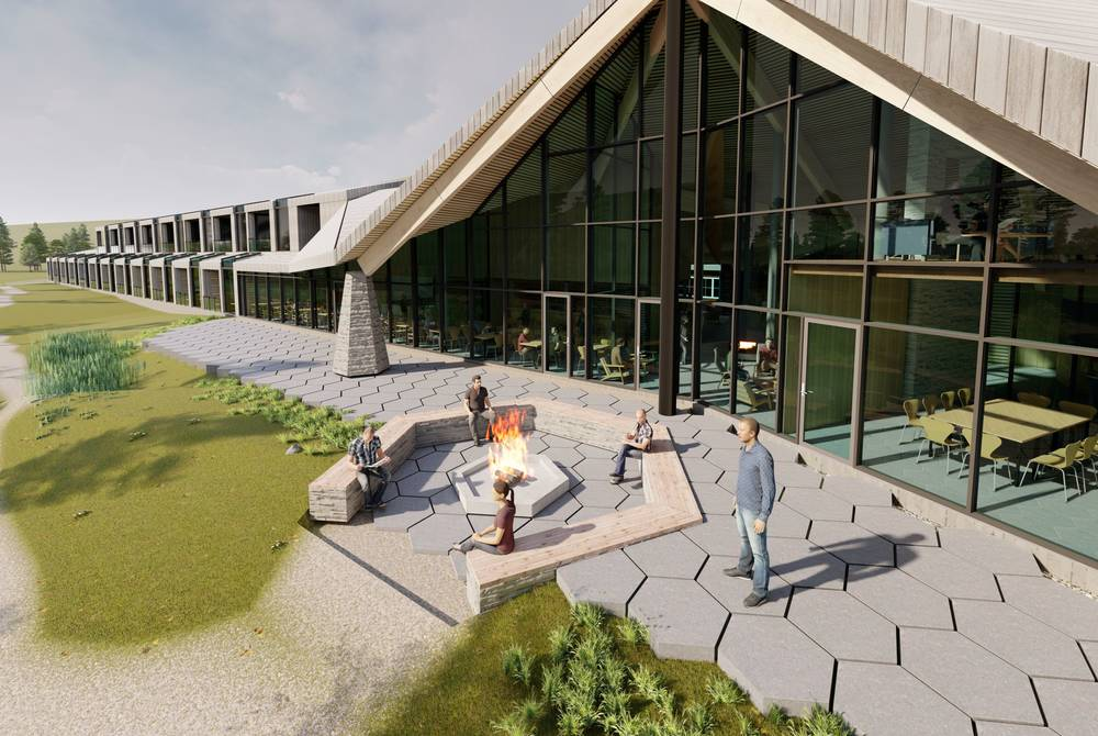Arctic Wilderness Lodge, Sorrisniva (rendering)