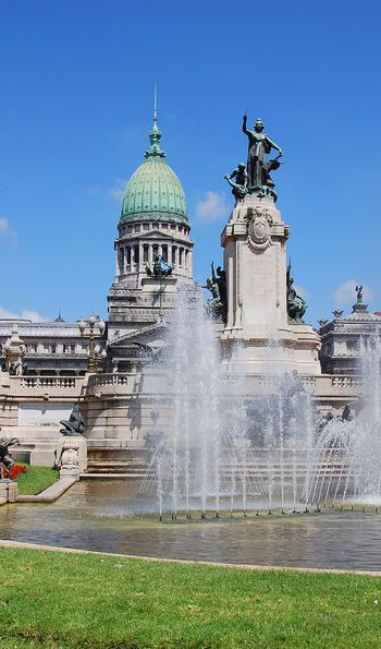 View of the Argentine Congress from the Congressional Plaza, Buenos Aires