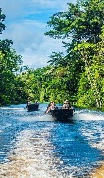 Skiff launch in the Amazon