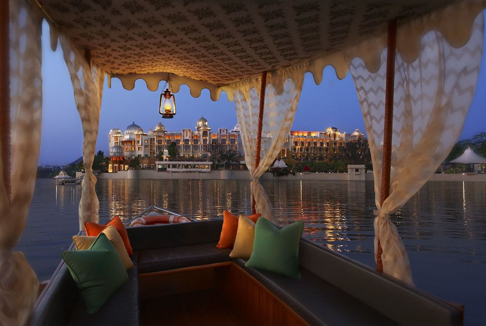 Arrival by Boat, The Leela Palace Udaipur