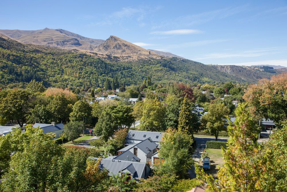 Arrowtown House Boutique aerial view, New Zealand