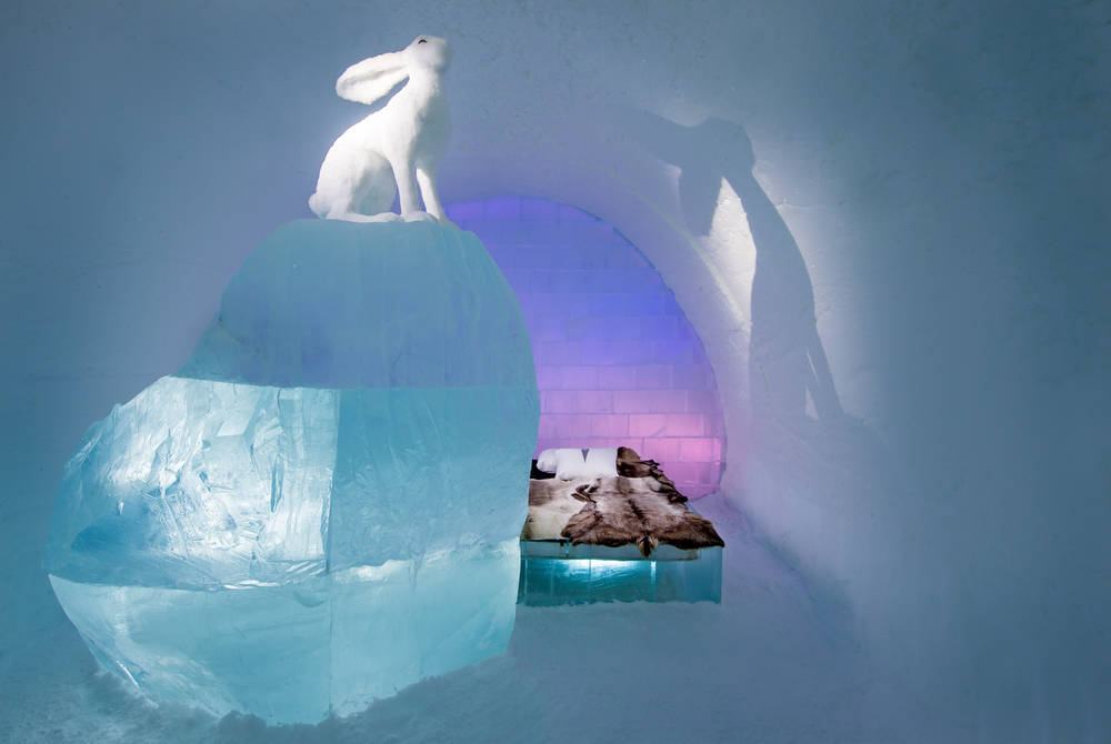 Art Suite  Follow the White Rabbit. Design AnnaSofia Mååg & Niklas Byman. Photo Asaf Kliger. © ICEHOTEL