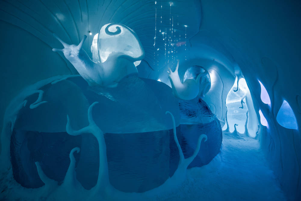 Art Suite Ground Rules. Design Carl Wellander & Ulrika Tallving. Photo Asaf Kliger. © ICEHOTEL
