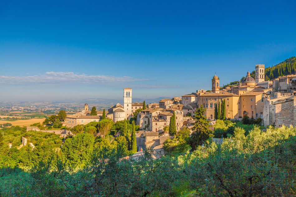 The village of Assisi, Umbria