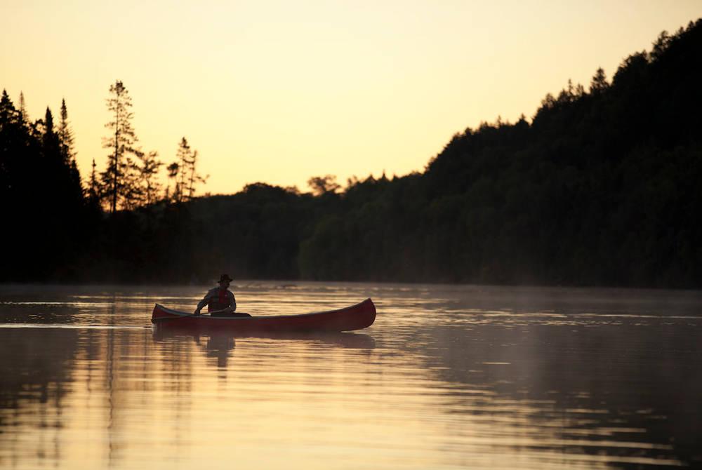 Canoeing on Lac-a-L'eau-Claire, Québec