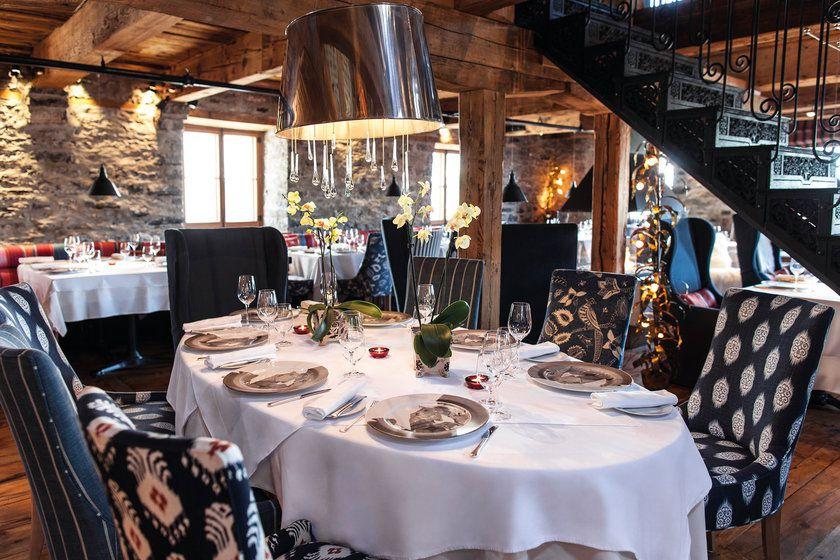 Dining room at Auberge St Antoine
