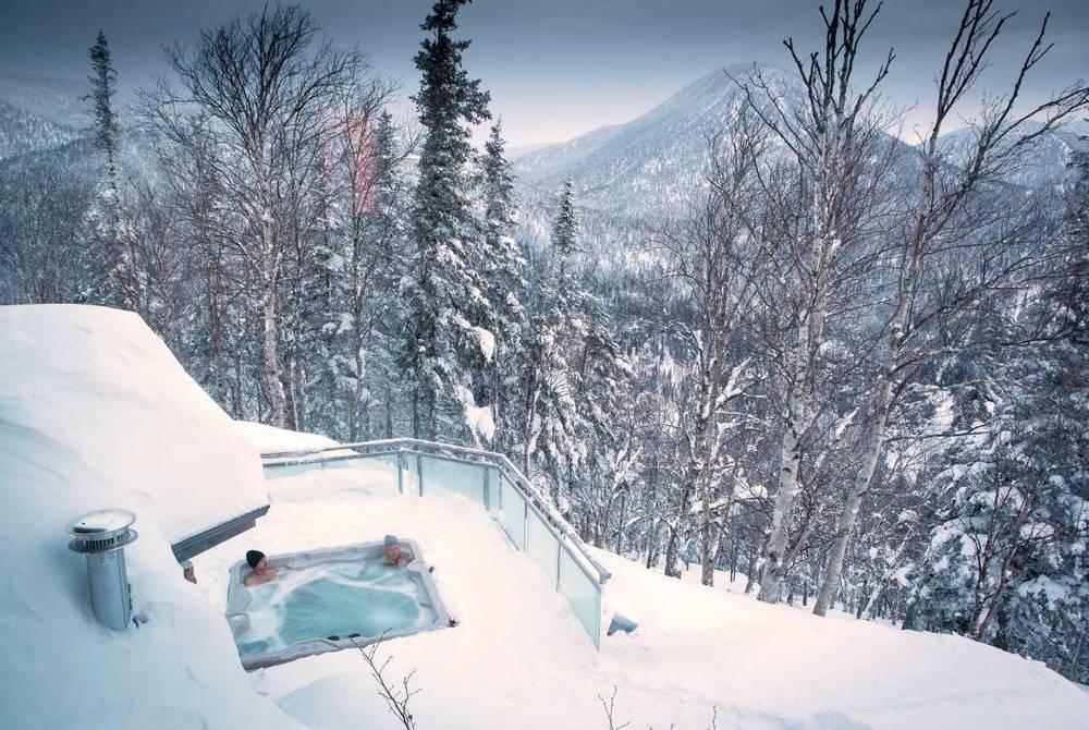 Hot tub, Auberge de montagne des Chic Chocs