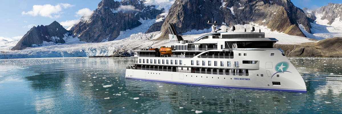 Aurora Expeditions celebrate Greg Mortimer official sea launch