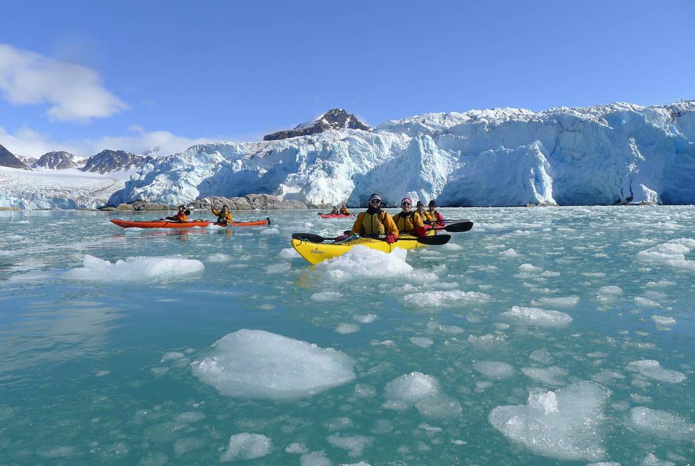 Kayaking through the pack ice - Svalbard