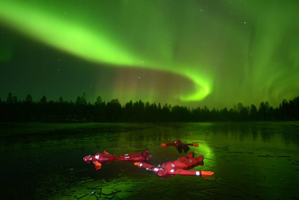 Aurora floating