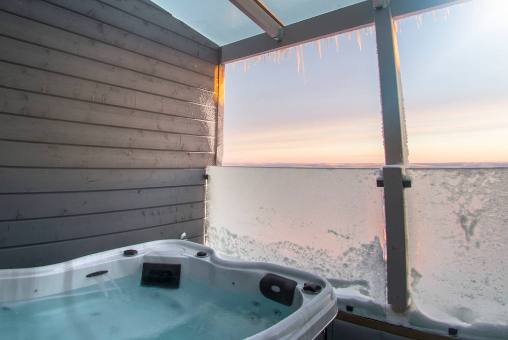 Jacuzzi, Aurora View Suite, Iso-Syote, Finland
