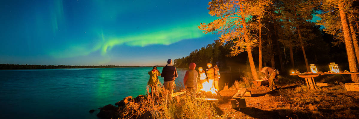 Autumn Northern Lights, Harriniva, Finland