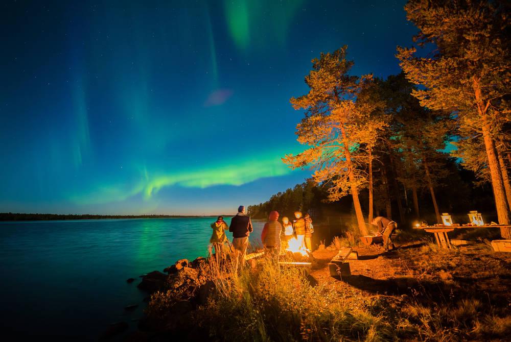 Northern Lights, Harriniva, Finland