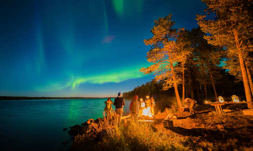 Autumn Northern Lights, Harriniva