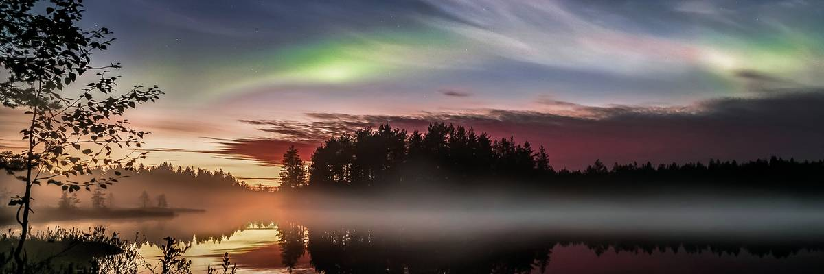Autumnal Northern Lights, Nurnes, Finland