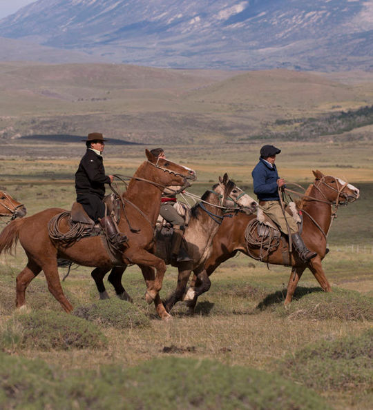 Locals on horseback – Awasi Patagonia
