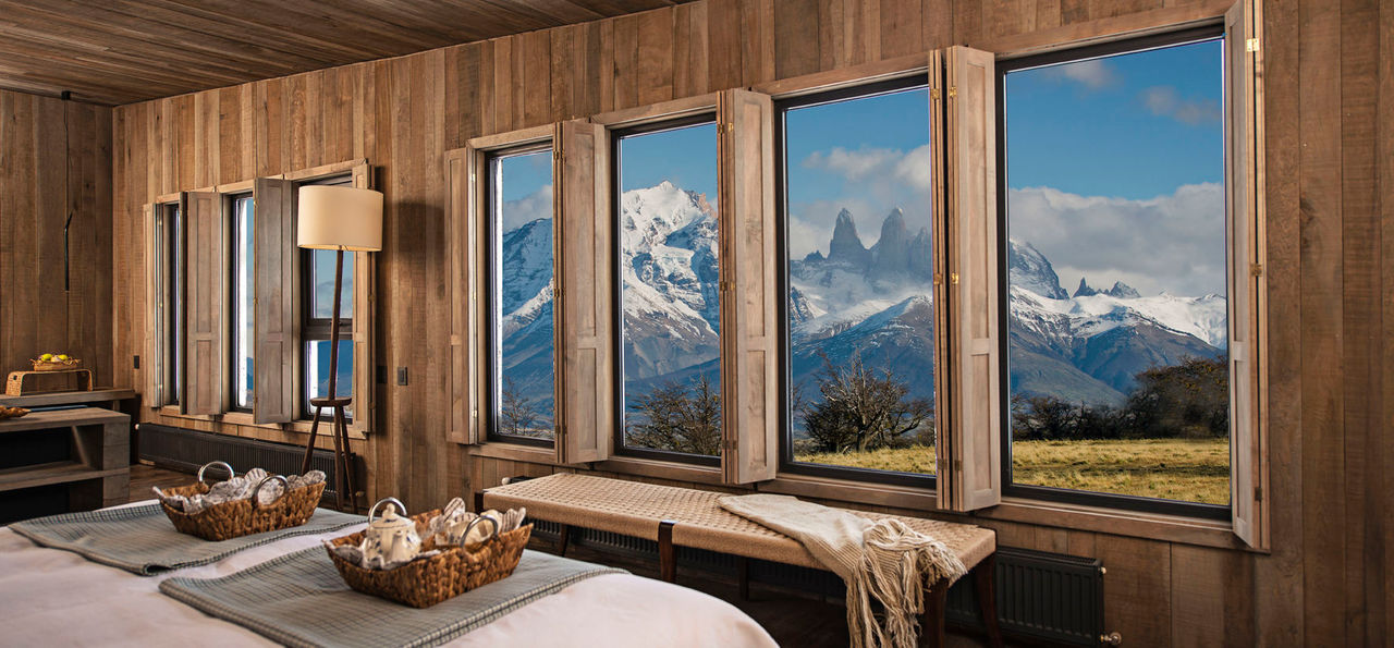 Views of the Torres del Paine National Park from Awasi Patagonia
