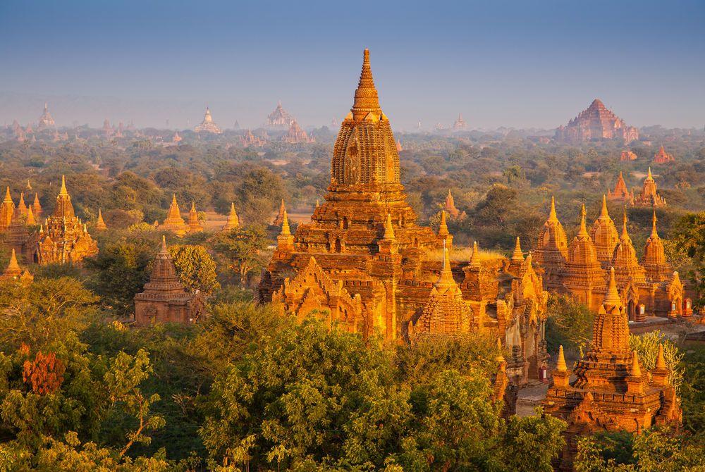 Bagan Temples, Bagan, Burma, Asia