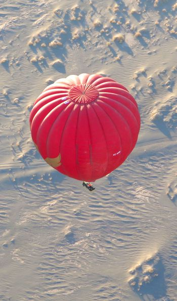 Hot air balloon ride over the Atacama Desert in Chile
