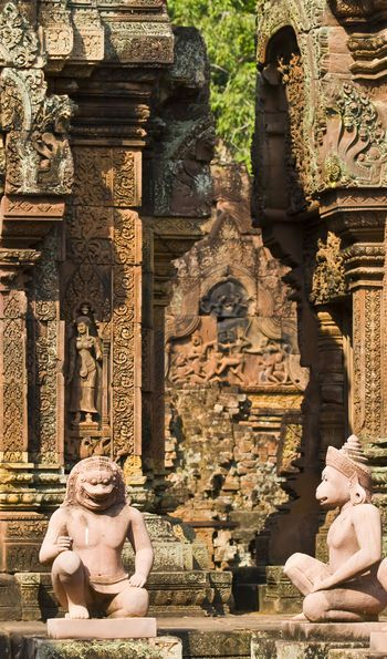 Banteay Srei in Angkor near Siem Reap, Cambodia
