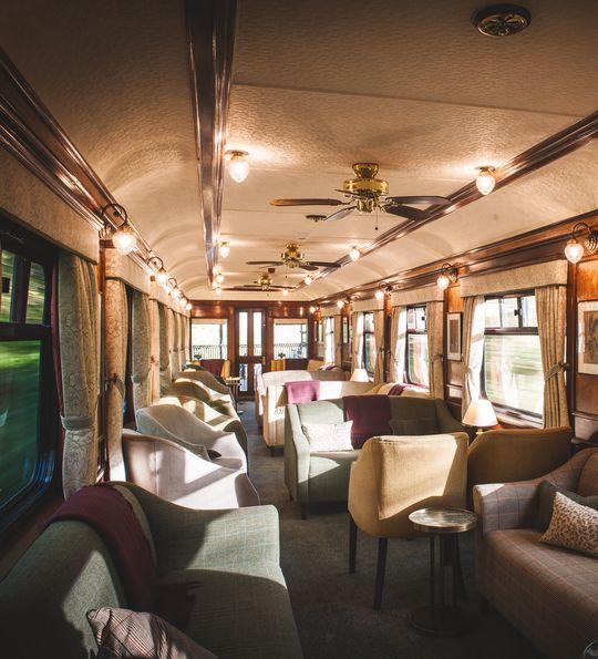 Bar car lounge, Belmond Royal Scotsman