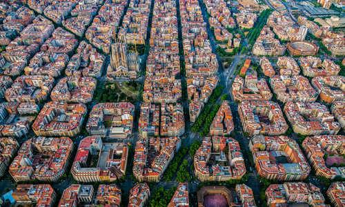 Barcelona's Sagrada Familia from above