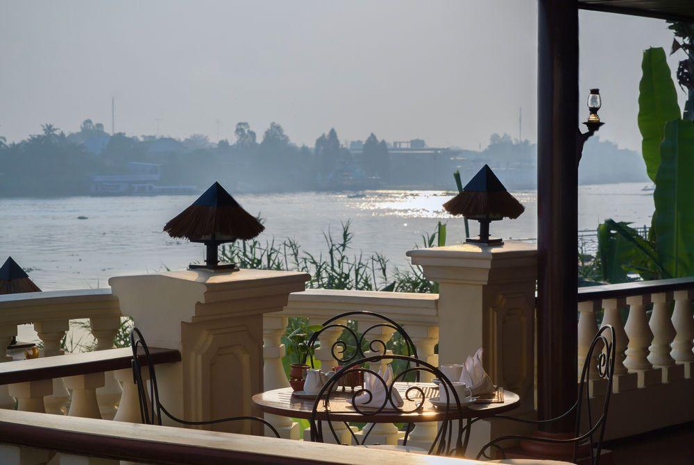 Bassac Restaurant Terrace, Victoria Chau Doc Hotel, Chau Doc, Vietnam