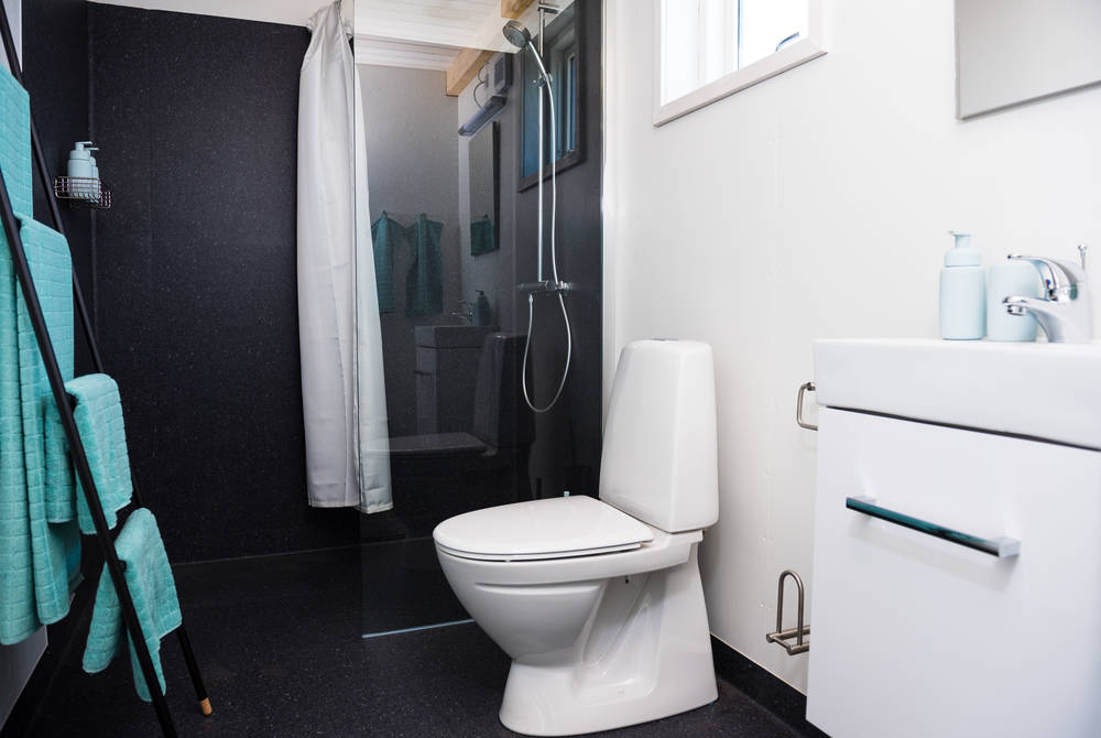 Bathroom at Ilimanaq Lodge, Ilulissat Icefjord