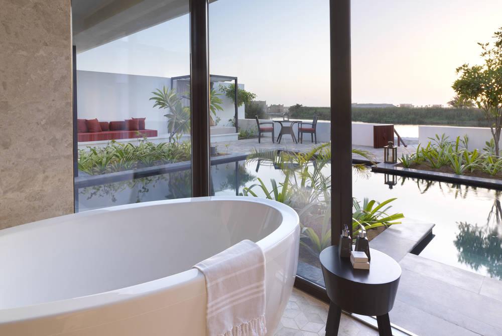 Bathroom, Lagoon View Pool Villa, Al Baleed Resort Salalah by Anantara, Oman