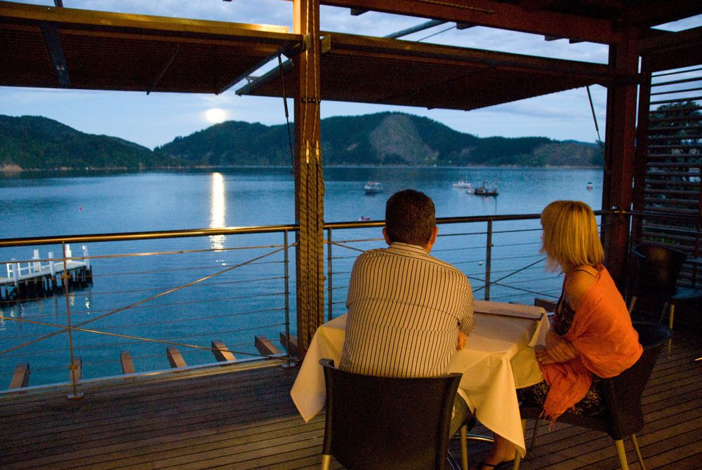 Bay of Many Coves supper on the water, New Zealand