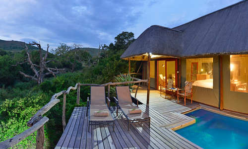 Bayethe Lodge - private deck & plunge pool