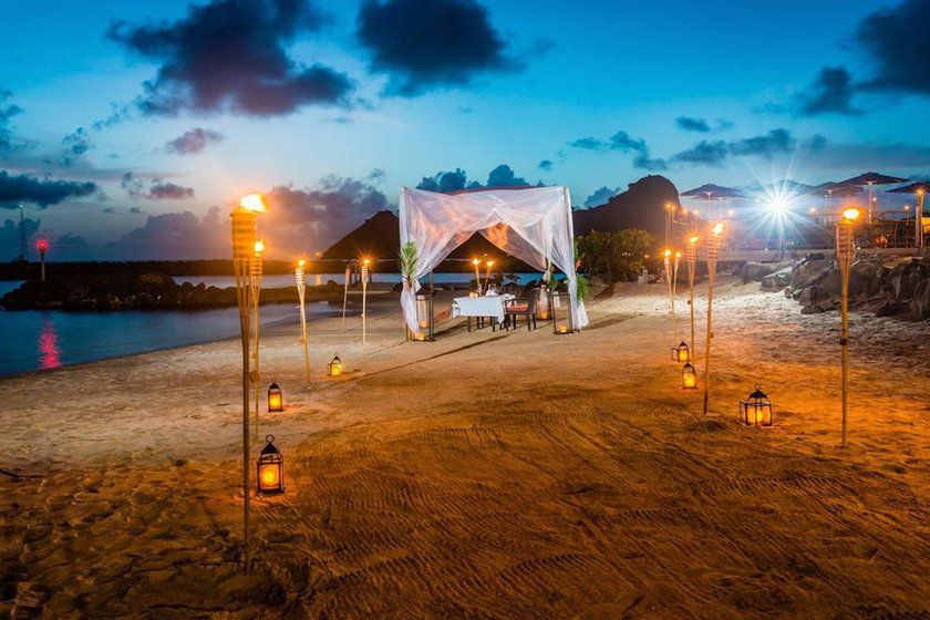 Beach Dining, Landings St Lucia, Caribbean