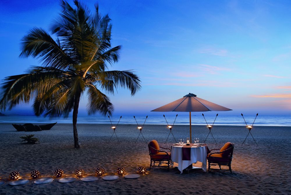 Beach Dining, The Leela Goa