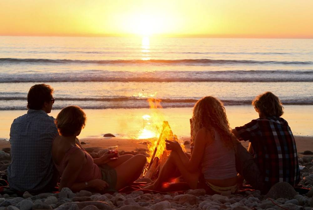 Beach bonfire, Paradis Plage