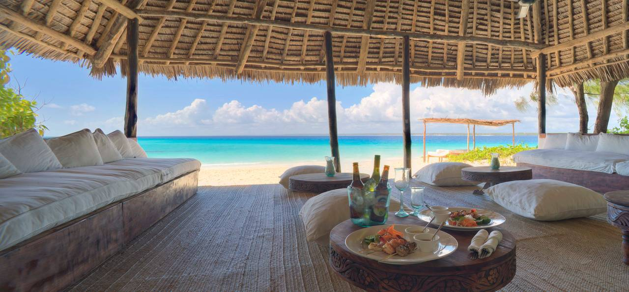 Beach hut, Mnemba Island, Zanzibar