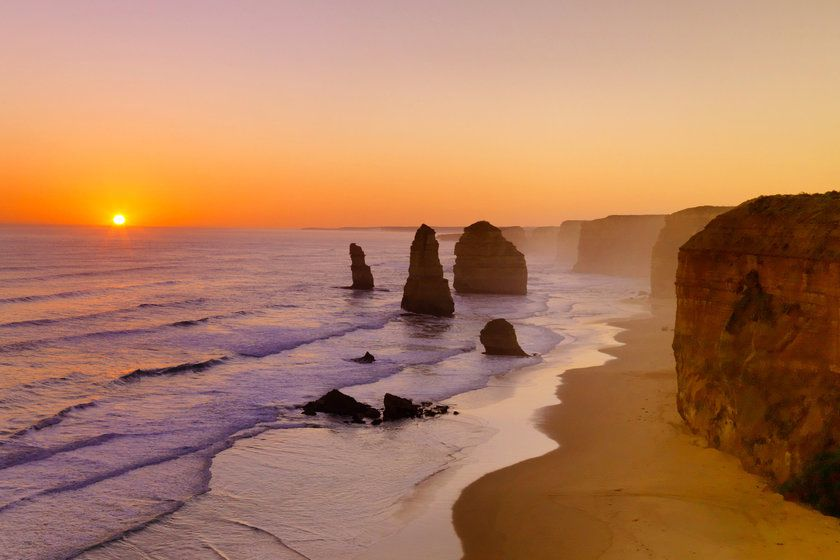 Beach on the Great Ocean Road, Victoria, Australia