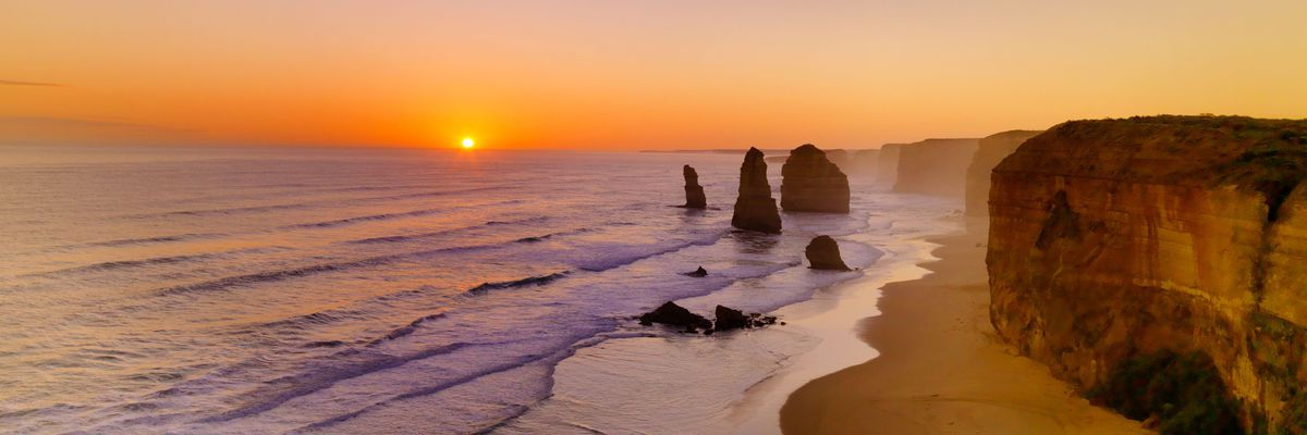 Beach on the Great Ocean Road, Victoria, Australia