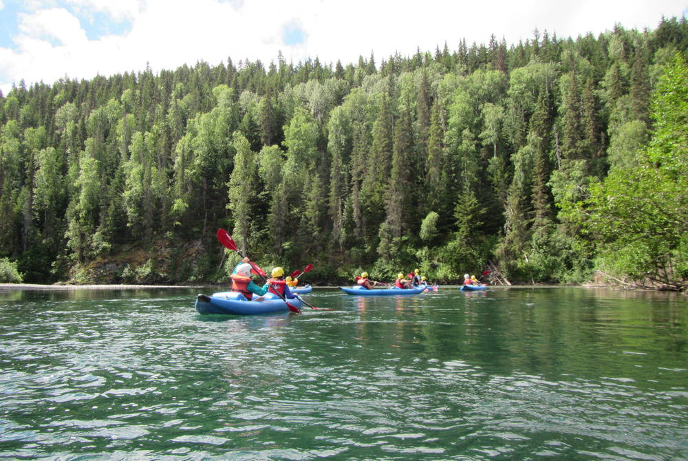 Kayaking at Bear Claw Lodge