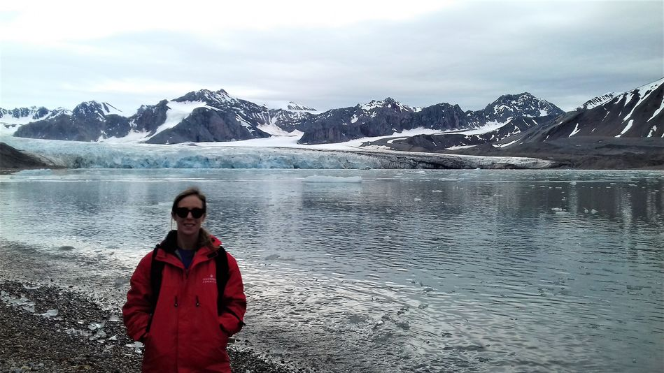 Becky and Glaciers on Silver Cloud Expedition