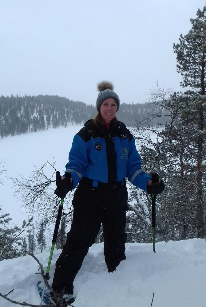 Rebecca Becky Theriault in Lapland