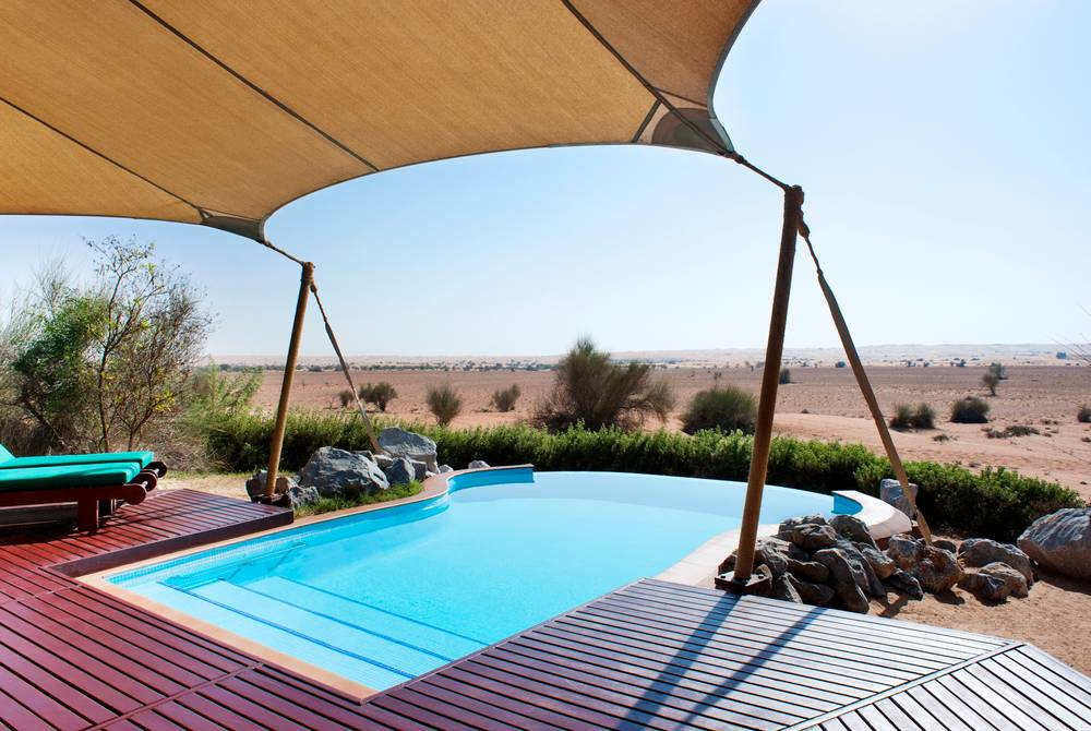 Bedouin Suite private pool, The Al Maha Desert Resort, Dubai