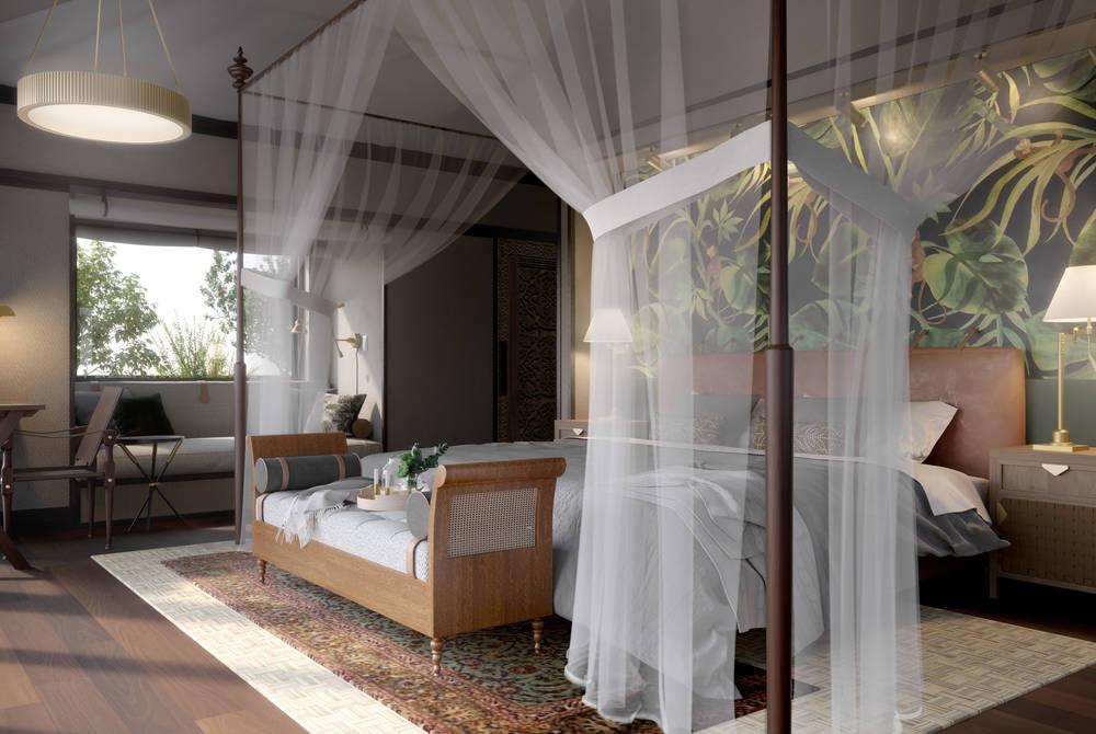 Bedroom, Nayara Tented Camp (rendering)