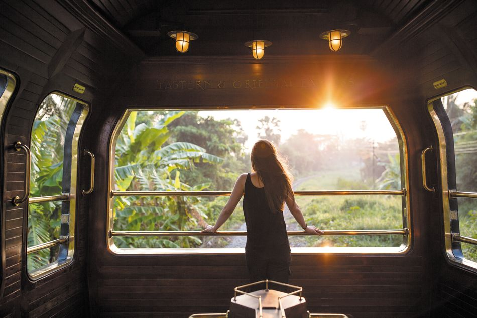 Take in the scenery and view from the Eastern & Oriental Express
