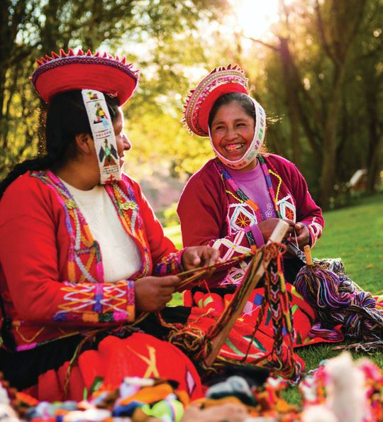 Traditional Incan dress in Peru